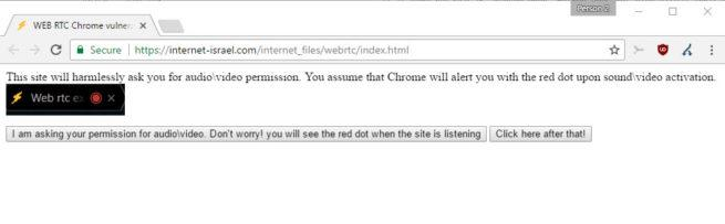 fallo en Google Chrome