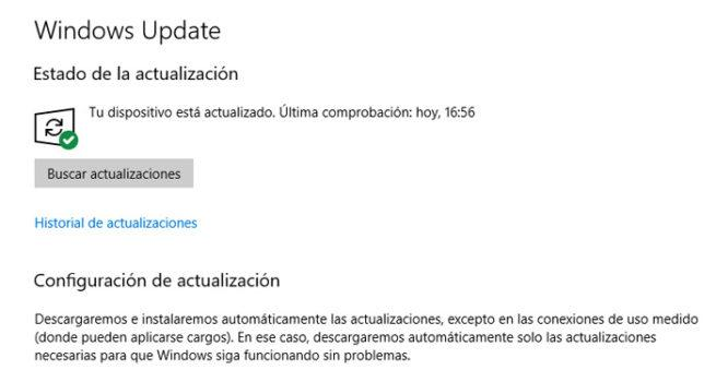 Seguridad actualizaciones Windows