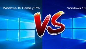 Diferencias entre Windows 10 Home, Windows 10 Pro y Windows 10 S