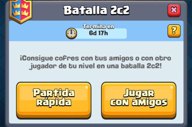 Modo 2c2 Clash Royale
