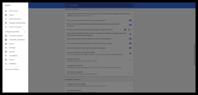 Ajustes avanzados Google Chrome 59