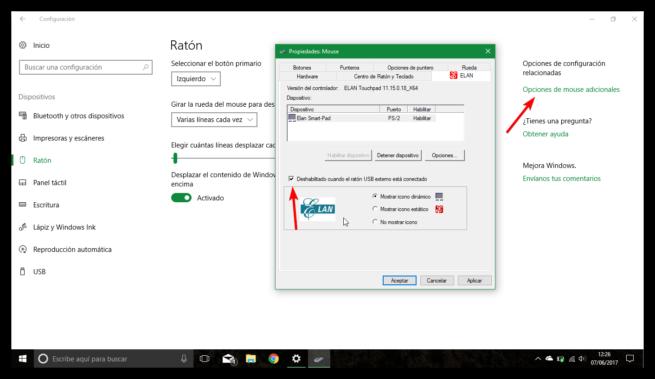 Desactivar touchpad automáticamente al conectar raton