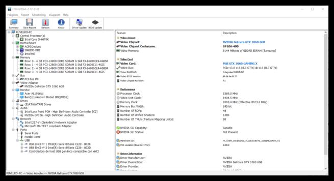 HWiNFO64 Información Hardware GPU