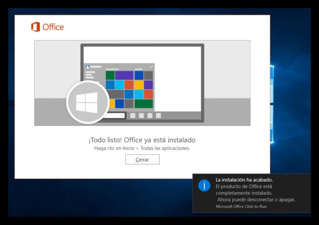 Microsoft Office 2016 instalado