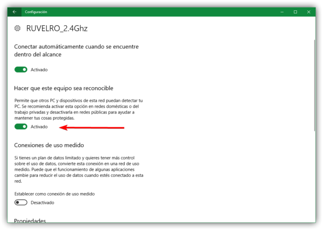 Ocultar red local por Wi-Fi en Windows 10