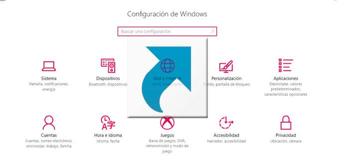acceso directo configuración