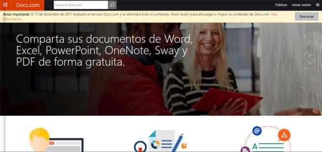 Cierre de Docs.com