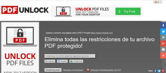 PDF con contraseña