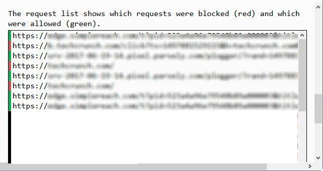 bloquear conexiones web