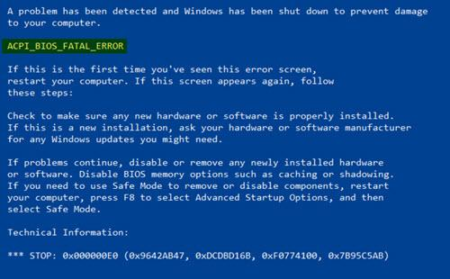ACPI-BIOS-ERROR