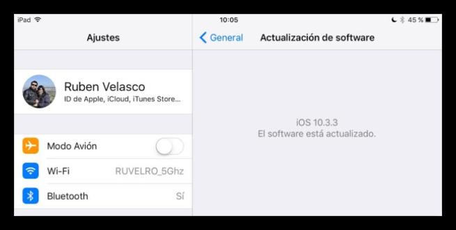 Actualización iOS 10.3.3