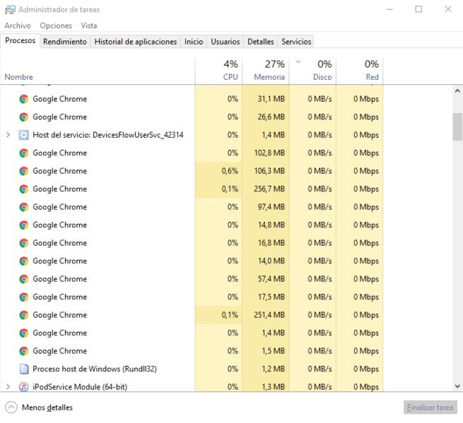 Administrador de tareas Windows 10
