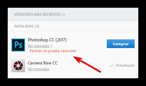 Adobe Photoshop CC 2017 caducado