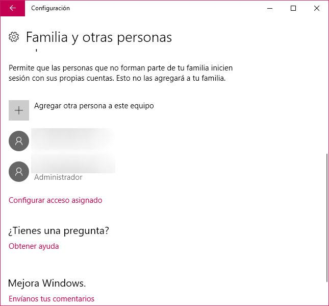 usuario en Windows 10