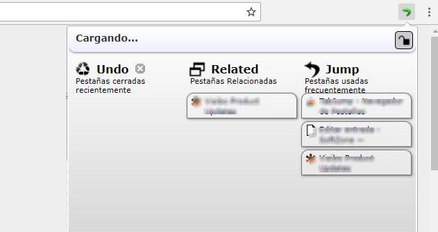 pestañas abiertas en Chrome