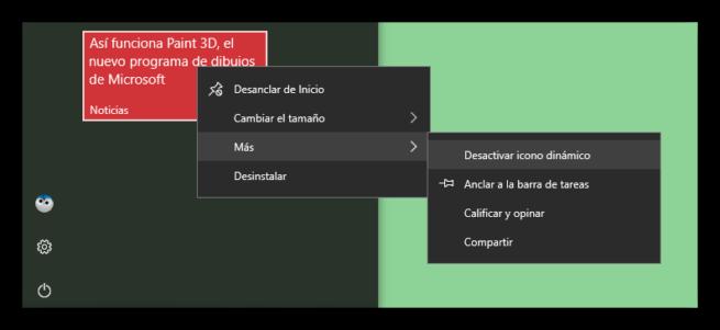 Desanclar del menú inicio Windows 10