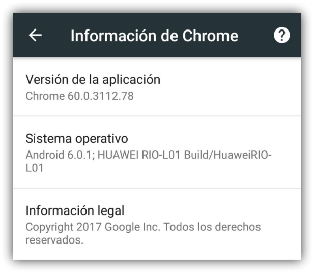 Google Chrome 60 para Android