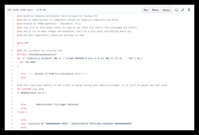 OneDrive Uninstaller GitHub