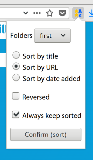 Sort Bookmarks Firefox