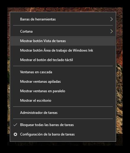 Vista de tareas barra de tareas Windows 10