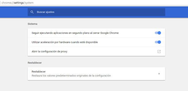 aceleración hardware google chrome