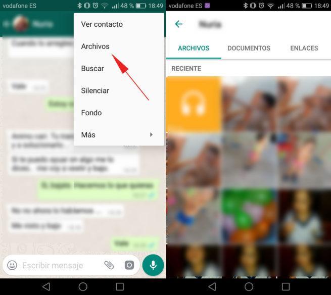 como ver historial conversaciones de whatsapp