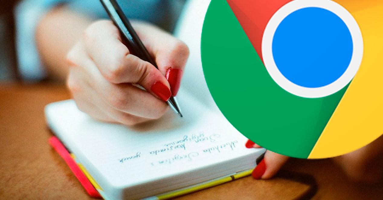 tomar notas y recortes en Chrome