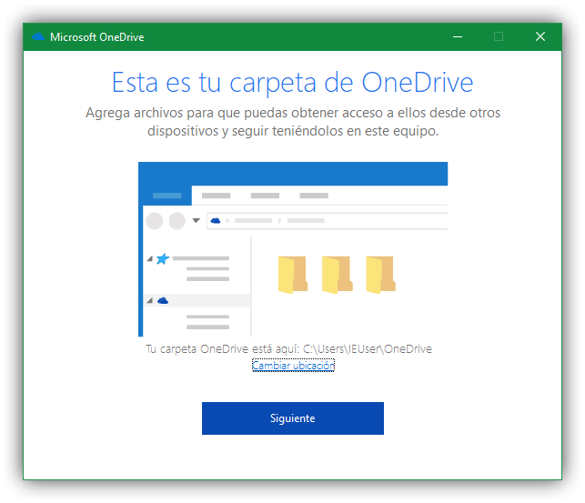 Carpeta OneDrive Windows 10 Fall Creators Update
