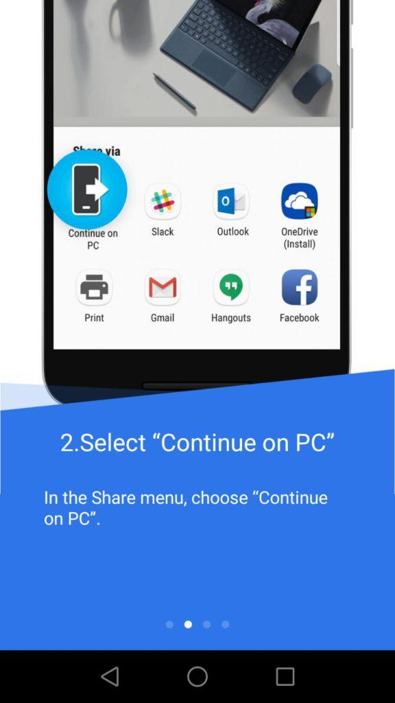 Instrucciones conectar Android con Windows 10 Fall Creators Update