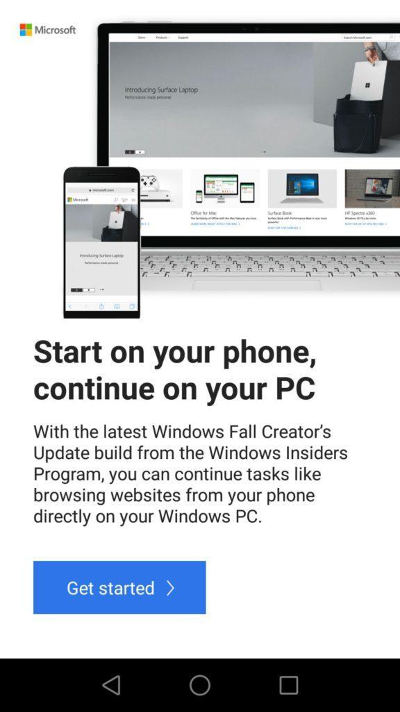 Instrucciones conectar Android con Windows 10 Fall Creators Update