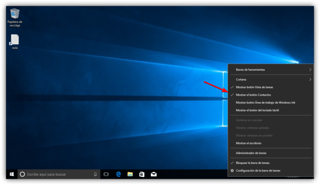 Ocultar Contactos Windows 10 Fall Creators Update