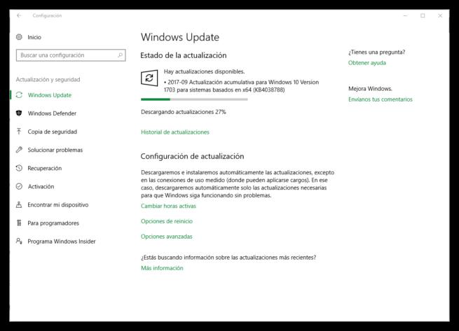 Parches de seguridad Windows 10 septiembre 2017