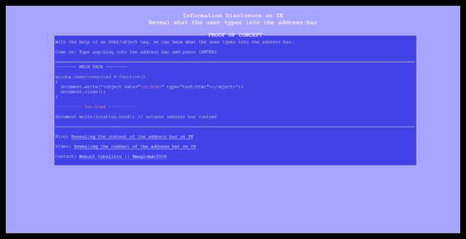 Poc Vulnerabilidad Internet Explorer Leak URL Bar