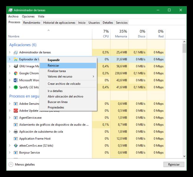Procesos críticos de Windows - Explorador