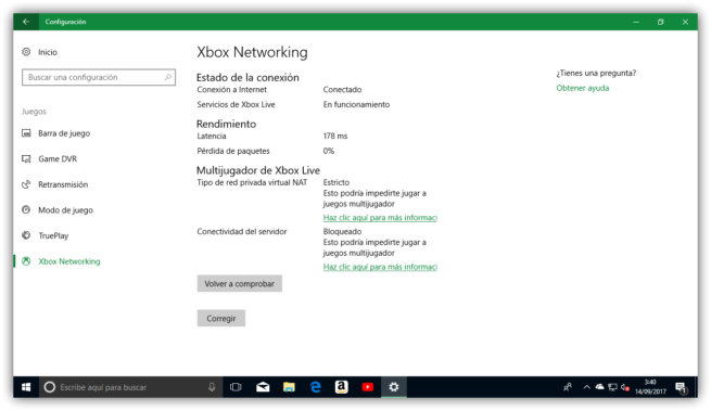 Xbox Live - Test juego online Windows 10 Fall Creators Update
