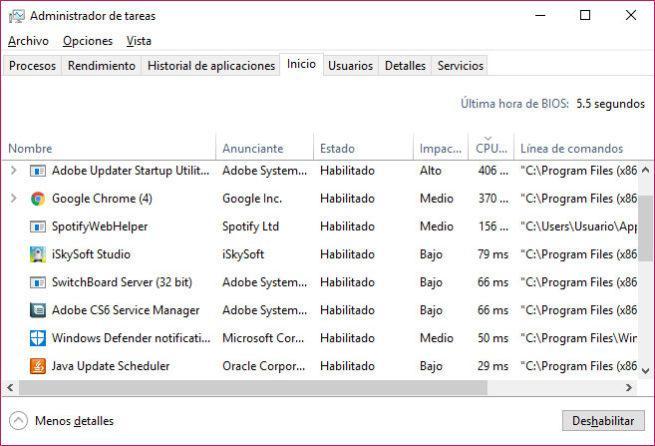 aplicación se inicie en el arranque de Windows