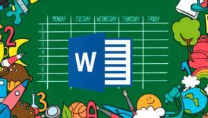 Cómo crear un calendario escolar en Microsoft Word