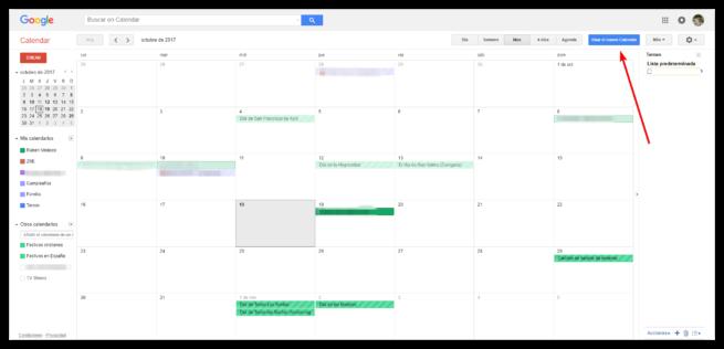 Activar nuevo Google Calendar