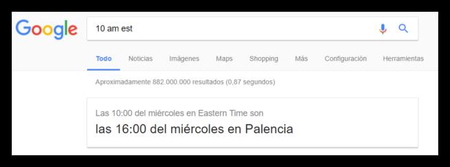 Conversor huso horario Google