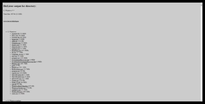 DirLister HTML