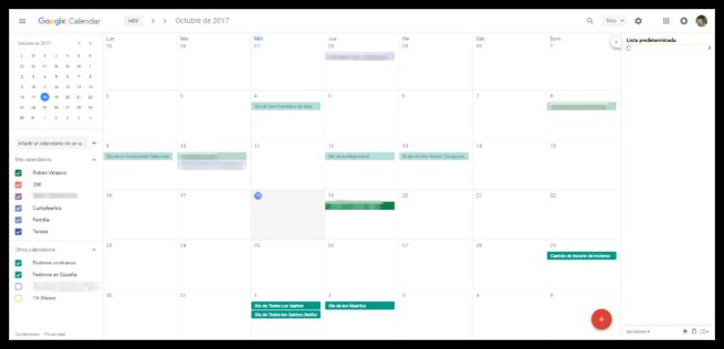 Nuevo Google Calendar 2017