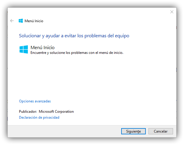 Solucionar problemas Inicio Windows 10 Fall Creators Update
