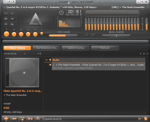 Reproductor AIMP 4.5