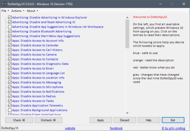 mejorar la privacidad en Windows 10 Fall Creators