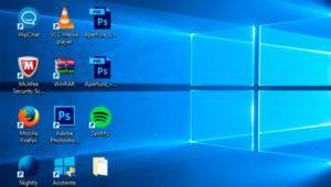 Cómo solucionar el problema al colocar los iconos a la izquierda del escritorio