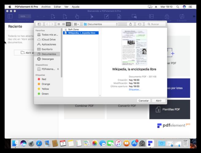 Abrir archivo editar PDF WonderShare PDFelement 6 Pro