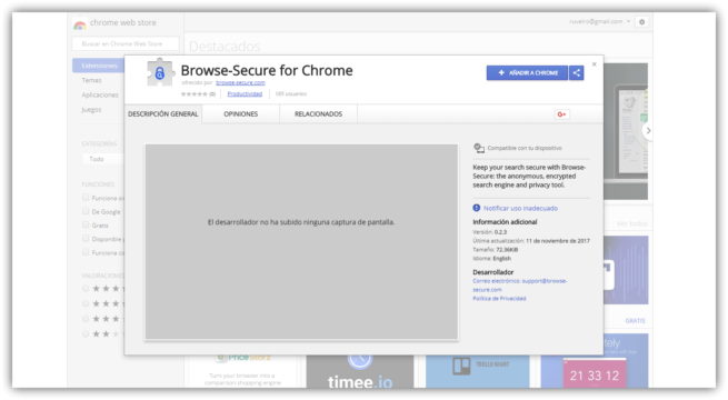 Browse Secure - Extension Chrome Store