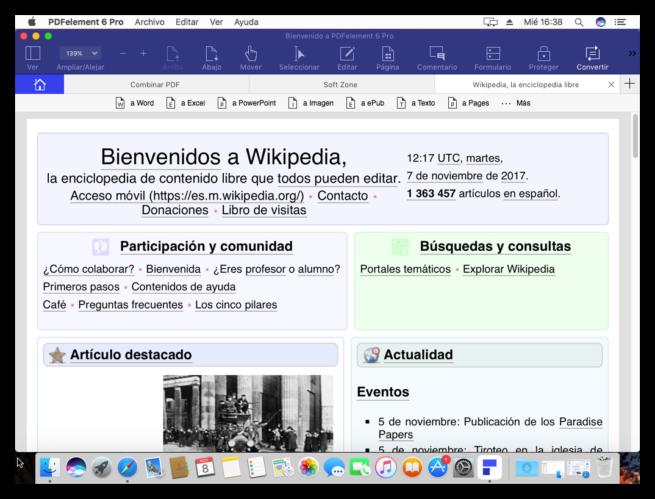 Convertir PDF WonderShare PDFelement 6 Pro