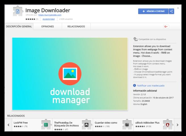Image Downloader Chrome