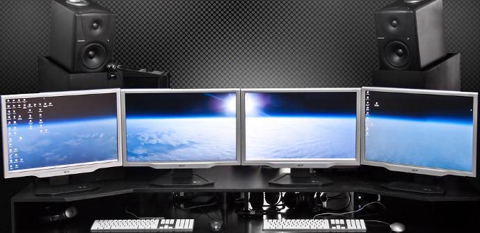 Varios monitores conectados al PC